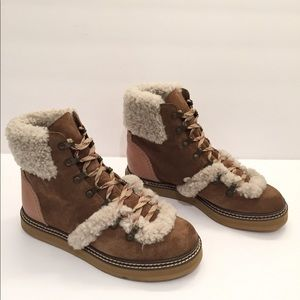 d24697f255d See By Chloe Eileen Hiking Boots with shearling